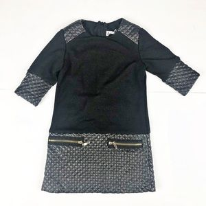 Other - Black synthetic Leather Design Moto Dress 4T